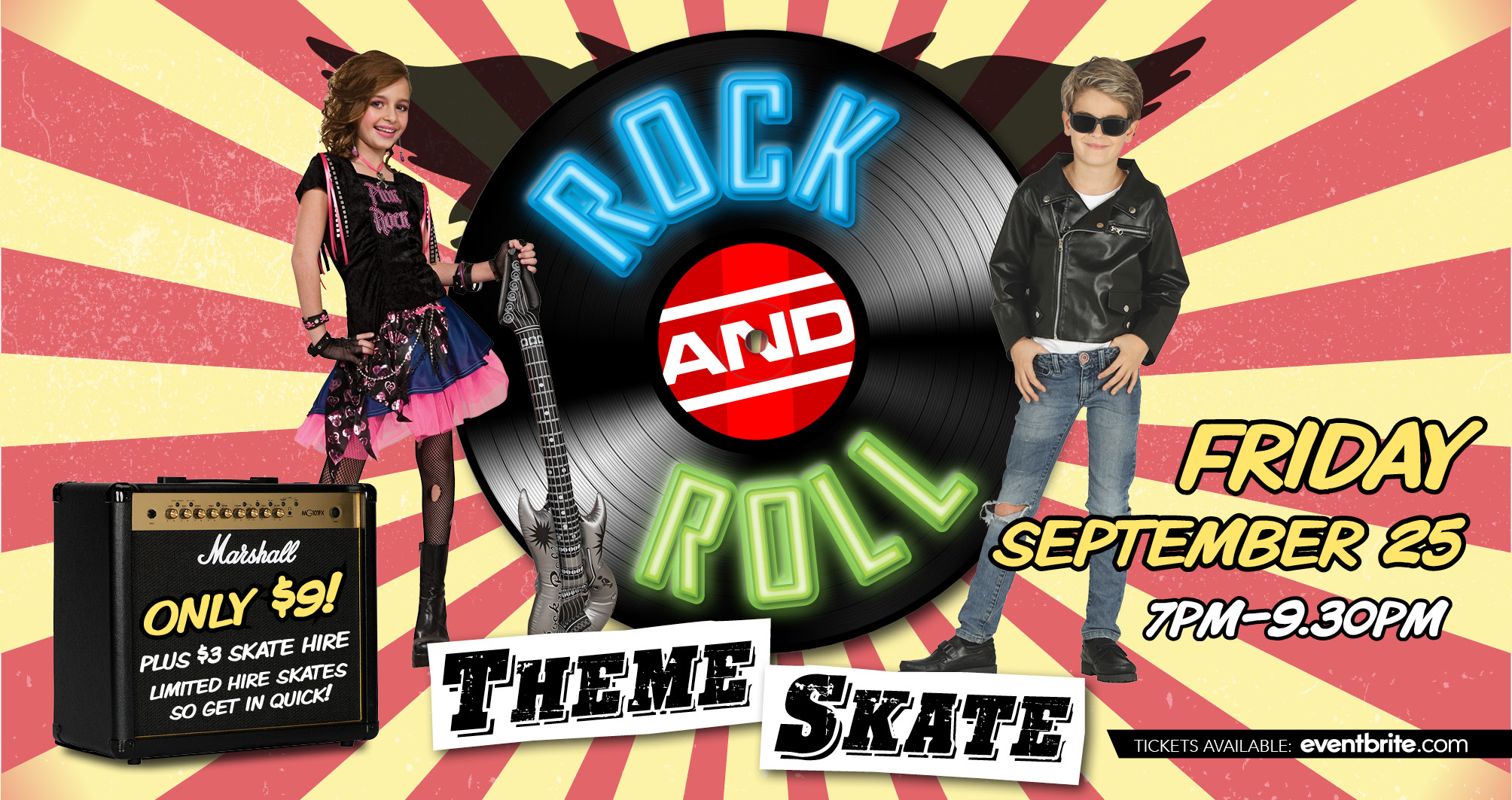 Rock and Roll theme Skate