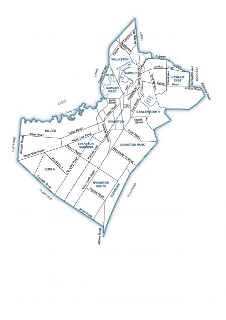 Gawler Boundry Map - By Suburb