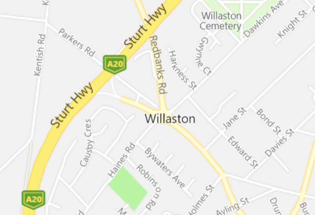 willaston map