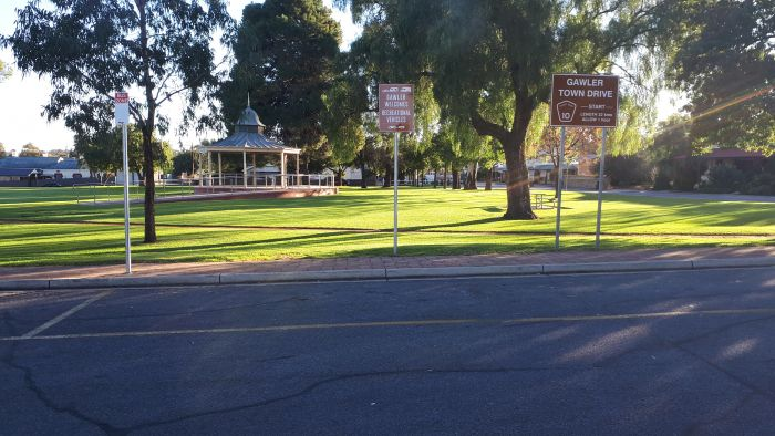 Gawler Welcomes Recreational Vehicles (RVs) signage - VIC park