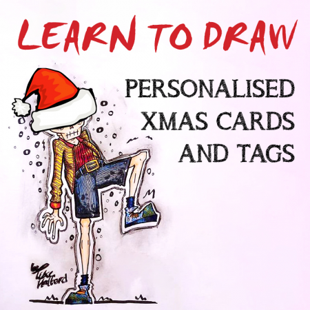 Learn to Draw- Personalized Xmas Cards and Tags