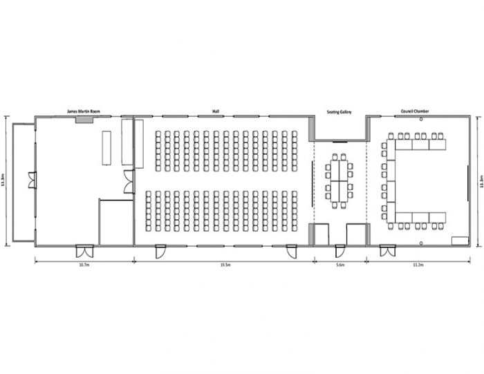 The Institute Full Layout with Dimensions